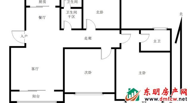 万福名苑 3室2厅 131平米 精装修 62万元