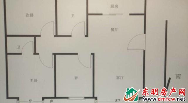 明苑 3室2厅 142平米 精装修 50万元