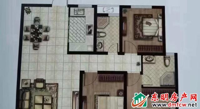 上海城 3室2厅 127平米 简单装修 48万元