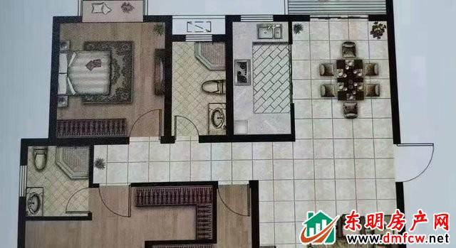 东明财富广场 3室2厅 140平米 简单装修 48万元